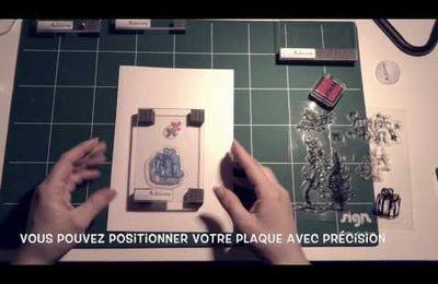 Vidéo de présentation de mon bloc acrylique avec patin mousse Support pour tampon silicone ou stamp clear