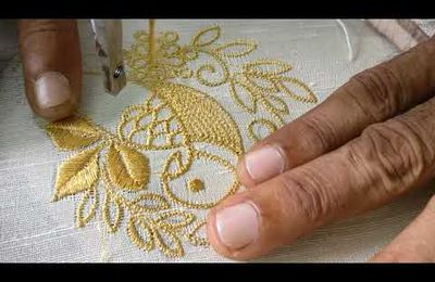 Broderies d' or à la machine