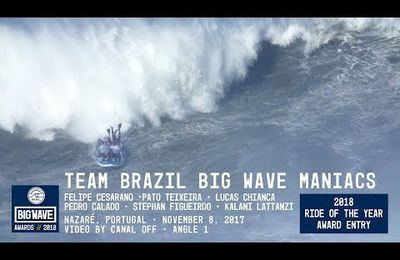 Team Brazil Big Wave Maniacs at Nazaré