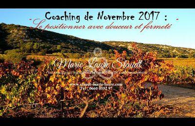 Le coaching de novembre 2017: Positionnez-vous avec douceur