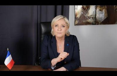 Marine Le Pen adresse un message de soutien à nos forces de police (26/04/2017)
