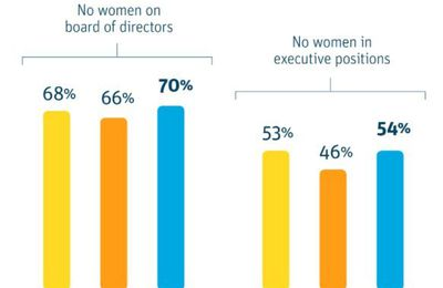 "70% des start-up technologiques n'ont pas une seule Femme dans leur board of directors - ""The lack of women in tech is actually getting worse"" (World Economic Forum)"