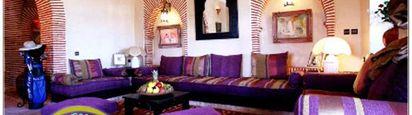 Salon marocain mauve luxueux - Salon marocain moderne 2014