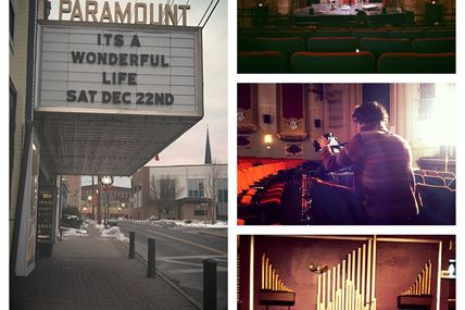 "goodvibesdaily:  Sean's Creation- The first days of production on the first film set I have ever been on. It felt really amazing to pull up to the theatre and see ""Its a Wonderful Life"" had just played there. Captured a few moments of the artists at work . My fave is the pic of the DP Dave as he paints with light. The old organ is really cool too. All in all quite a day and hopefully the start of bigger and better things!"