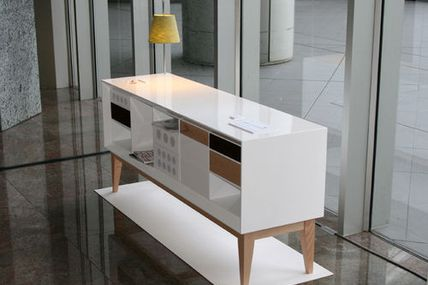 'Listen' A Console Stereo and Storage Unit System...