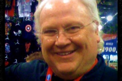 I am wishing Colin Baker @SawbonesHex a Happy Birthday, whether he likes it or not. #DoctorWho. I took this photo a couple years ago at #NYCC (with an iPhone 3GS). #6thDoctor #ColinBaker