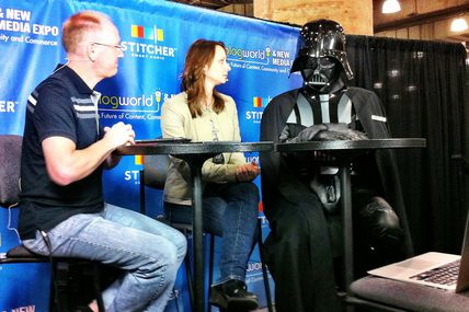 Chad Vader being interviewed by Geek Beat TV at BWENY 2012