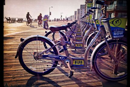 Bicycles at Long Beach Boardwalk - National Blvd
