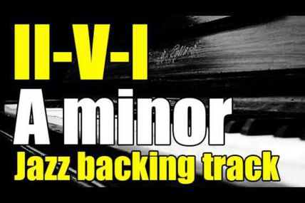 2-5-1 minor jazz backing track on youtube
