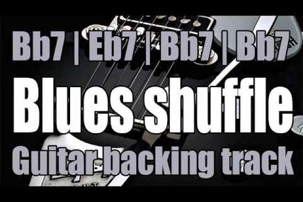 Blues shuffle guitar backing track