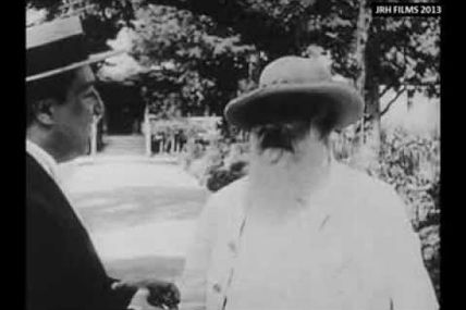 Claude Monet filmé en 1915
