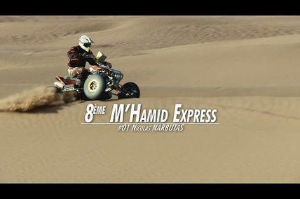 Le M'hamid Express 2017 de Nicolas Narbutas sur son quad KTM