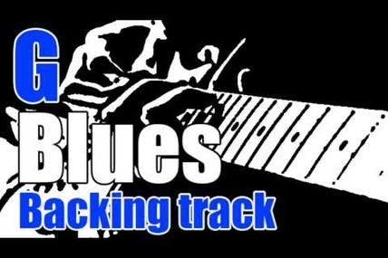 Blues backing track in G