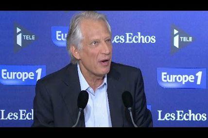 """Villepin : """"La primaire, c'est la parole donnée aux bulles"""""""