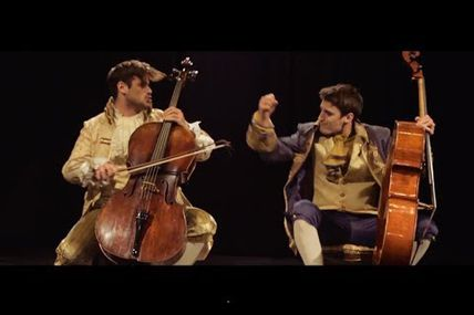 Luka Sulic and Stjepan Hauser playing their...