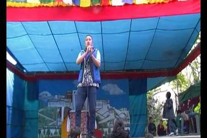 "Tibetan rap song ""Shapale"" was interpreted by..."