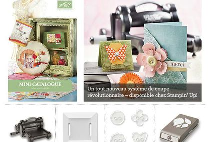le nouveau mini catalogue de Stampin Up