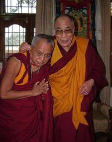 Dalaï Lama and Lama Zopa