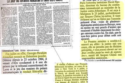 Georges Abdallah - Années 80 - Traitement d'exception