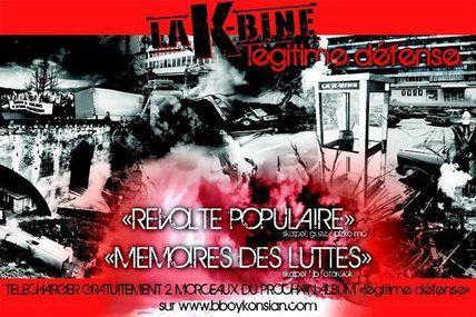 """La K-Bine - Nouvel album """"Légitime défense"""" fin octobre 2008."""
