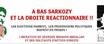 Georges Cipriani, Nathalie Ménigon, Jean-Marc Rouillan, Régis Schleicher, Georges Abdallah doivent être libéré-e-s !