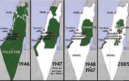 Palestine : 27 009 kilomètre carré. Capitale : Jérusalem