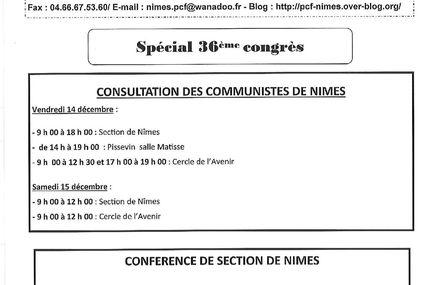 INFO SECTION DECEMBRE 2012 : spécial 36ème congrès