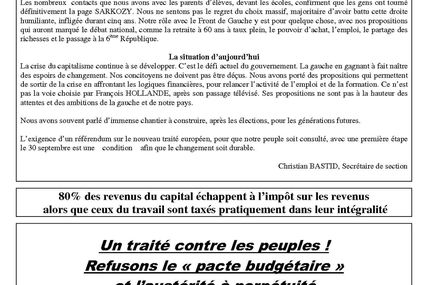 INFO SECTION septembre 2012