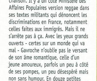Gagner une place pour un des concerts de Gavroche en France