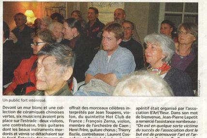 La Presse en parle - Concert de Jazz à Barfleur
