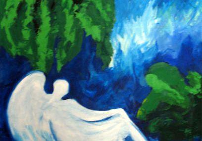 Voici les anges blancs d'Antibes, mes toiles preférées !