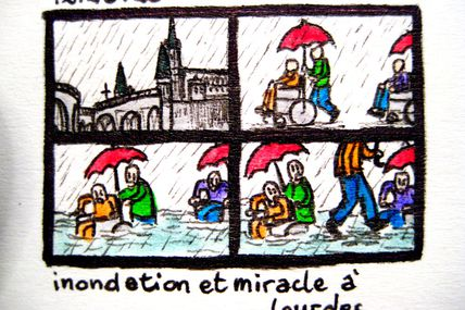 Inondation Et Miracle A Lourdes / Flooding And Miracle In Lourdes