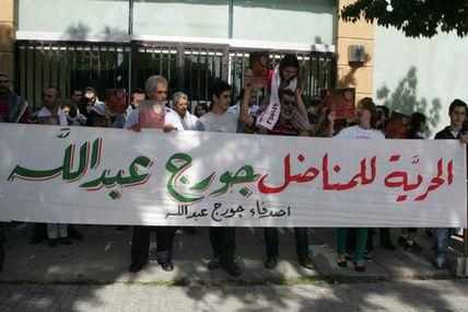 Rassemblement à Beyrouth pour Georges Abdallah.