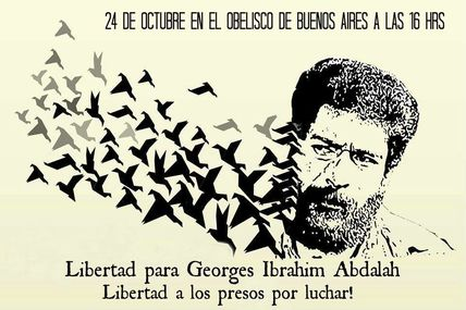Solidaires avec Georges Abdallah.