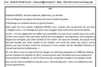 INFO SECTION MARS 2013