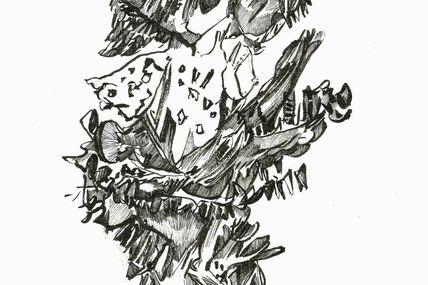 Alguent. Encre sur papier 18/24cm. 2012