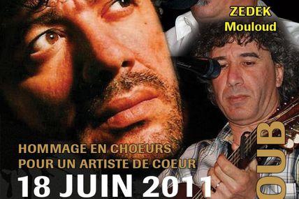 Concert de ZEDEK Mouloud et Chérif HAMANI en hommage à Matoub le 18 juin à Malakoff