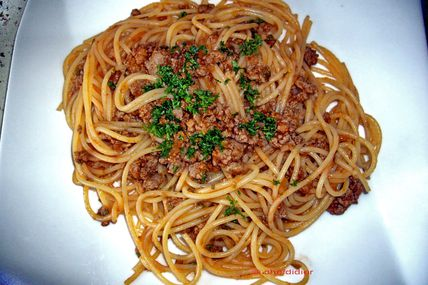 Spaghetti Bolognèse ( en 14 minutes)