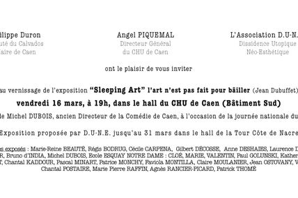 Exposition SLEEPING ART , CHU de CAEN