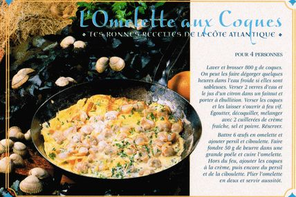 Cartes de recettes culinaires : de la côte Atlantique