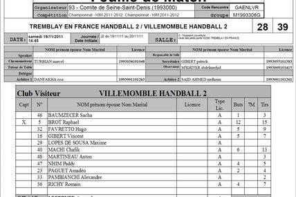 -16M2 TREMBLAY vs VHB (Excellence 93 - 19.11.2011)