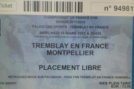 TREMBLAY vs MONTPELLIER (LNH - 14.03.2012) 2ème mi-temps