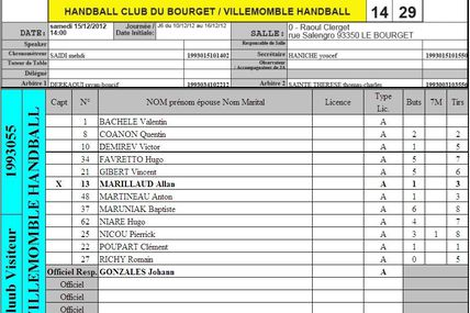 -16M1 LE BOURGET vs VHB (Excellence L.I.F.E. - 15.12.2012)