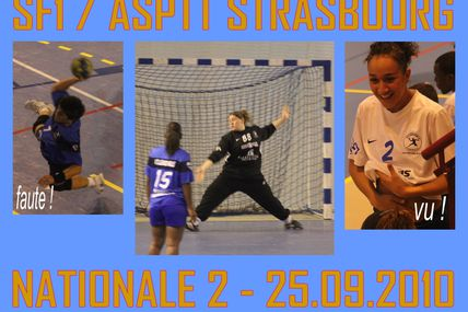 SF1 - N2 FEMININE : VHB vs ASPTT STRASBOURG (25/09/2010)