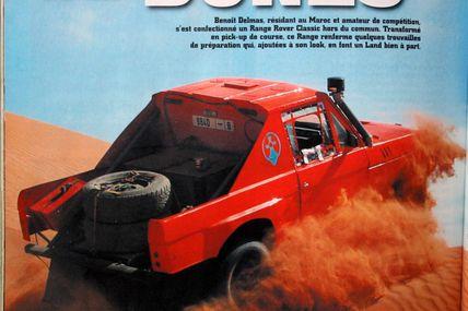 Location 4x4 Range Rover rallye raid Maroc Zagora M'Hamid Express 2011 LAND MAG n°87