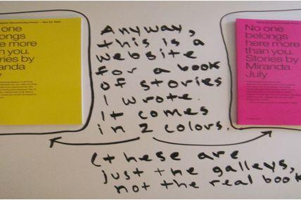 Miranda July, ou comment créer un site avec un appareil photo, un feutre et un frigo ...