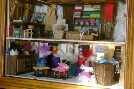 L'atelier de peinture sur soie et sa boutique