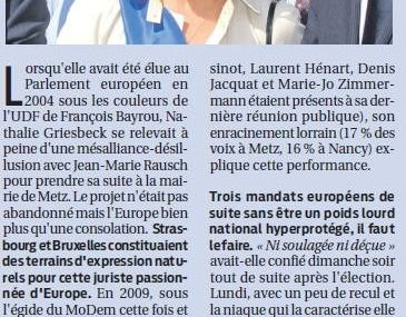 Nathalie Griesbeck: consolider l'Europe
