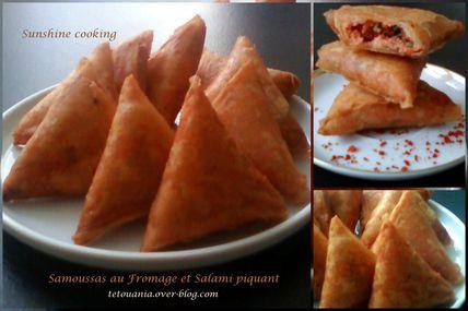 Briwat / Samoussas au Fromage et Salami piquant