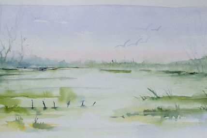 Elleaqua mes aquarelles aquarelles mes essais - Peindre grille rouillee ...